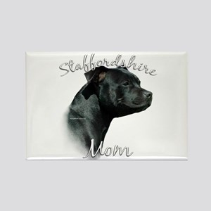Staffy Mom2 Rectangle Magnet