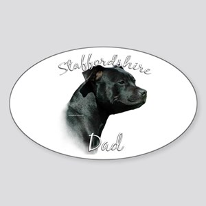 Staffy Dad2 Oval Sticker