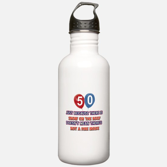 50 year old designs Water Bottle