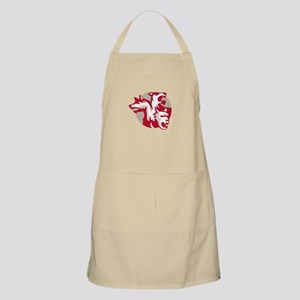 Cerberus Multi-headed Dog Circle Retro Apron