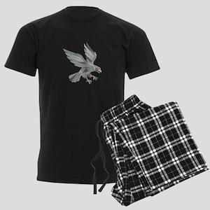 Peregrine Falcon Swooping Grey Low Polygon Pajamas