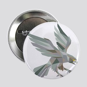 "Peregrine Falcon Swooping Grey Low Polygon 2.25"" B"