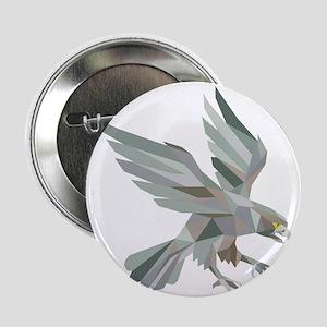 "Peregrine Falcon Swooping Grey Low Polygon 2.25"" B"