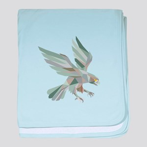 Peregrine Falcon Swooping Grey Low Polygon baby bl
