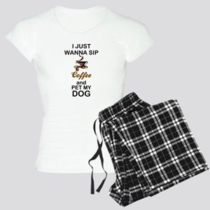 SIP COFFEE - PET DOG Women's Light Pajamas