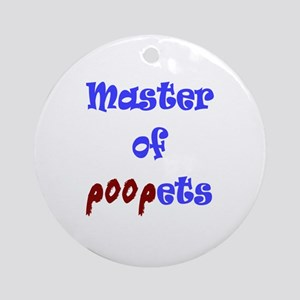 Master of Poopets Ornament (Round)