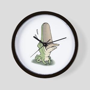Frog Croaking Wall Clock