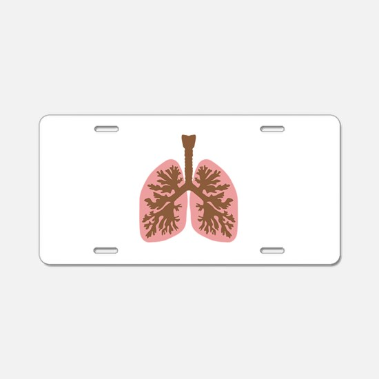 Lungs and bronchus Aluminum License Plate