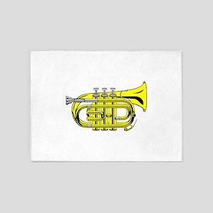 Pocket trumpet b flat colour 5'x7'Area Rug