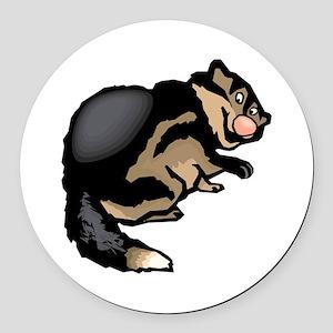Wolverine Round Car Magnet
