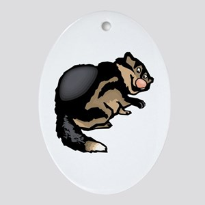 Wolverine Oval Ornament