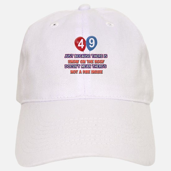 49 year old designs Baseball Baseball Cap