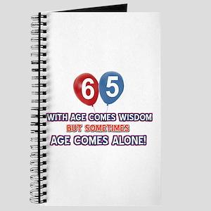 Funny 65 wisdom saying birthday Journal