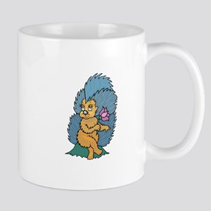 Porcupine and Flower Mugs