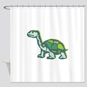 Turtle staring Shower Curtain