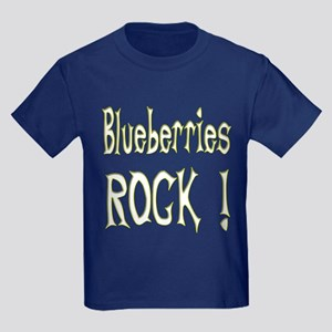 Blueberries Rock ! Kids Dark T-Shirt