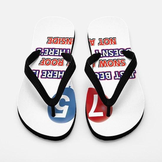 75 year old designs Flip Flops