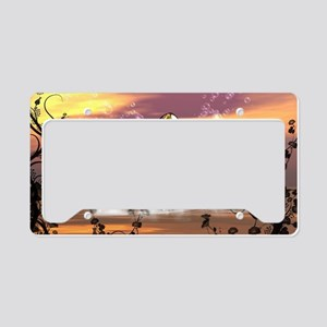 Wonderful colorful clef in the ocean License Plate