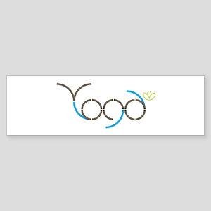 Yoga lettering Bumper Sticker