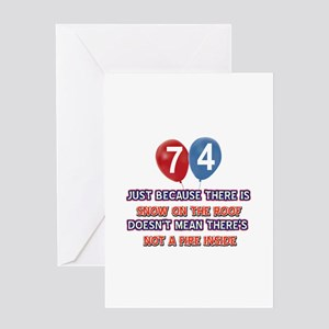 74 year old designs Greeting Card