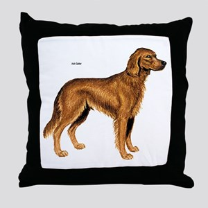 Irish Setter Dog Throw Pillow
