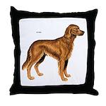 Irish Setter Dog Throw Pillow