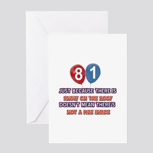 81 year old designs Greeting Card