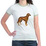 Irish Setter Dog (Front) Jr. Ringer T-shirt