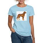 Irish Setter Dog (Front) Women's Pink T-Shirt