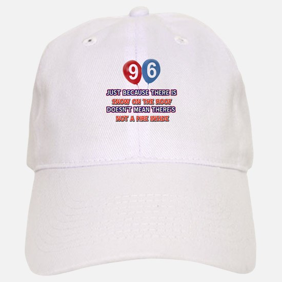 96 year old designs Baseball Baseball Cap
