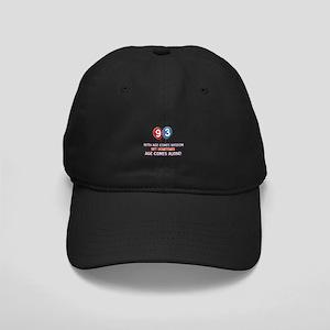 Funny 93 wisdom saying birthday Black Cap