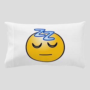 Snoring sleeping zz smiley Pillow Case