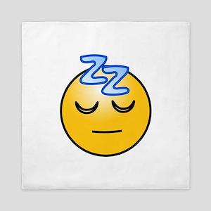 Snoring sleeping zz smiley Queen Duvet