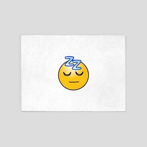 Snoring sleeping zz smiley 5'x7'Area Rug