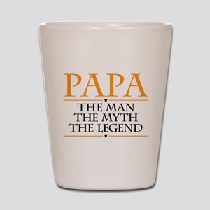 Papa Man Myth Legend Shot Glass