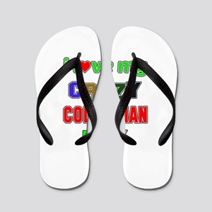 I love my crazy Colombian family Flip Flops