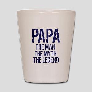 Papa, Man, Myth, Legend Shot Glass