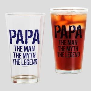 Papa, Man, Myth, Legend Drinking Glass