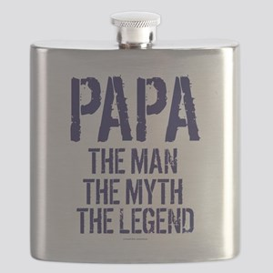 Papa, Man, Myth, Legend Flask