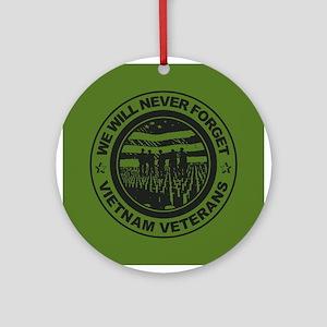 Vietnam Veterans Round Ornament