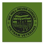 Vietnam Veterans Square Car Magnet 3