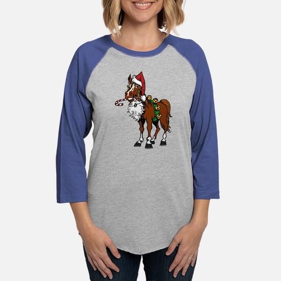 pony wearing santa hat Long Sleeve T-Shirt