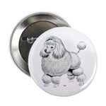 Poodle Dog Button