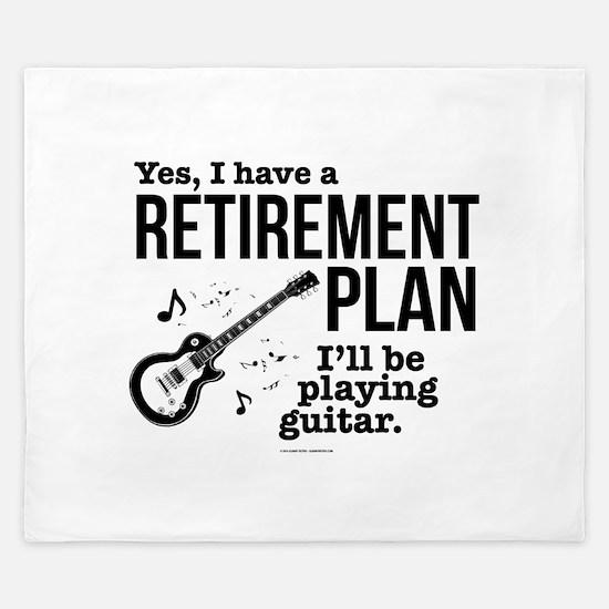 Guitar Retirement Plan King Duvet