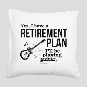 Guitar Retirement Plan Square Canvas Pillow