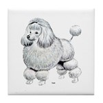 Poodle Dog Tile Coaster