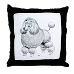 Poodle Dog Throw Pillow