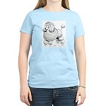 Poodle Dog (Front) Women's Pink T-Shirt