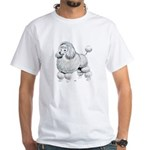 Poodle Dog (Front) White T-Shirt
