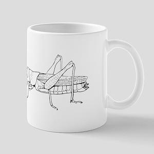 Grasshopper silhouette Mugs
